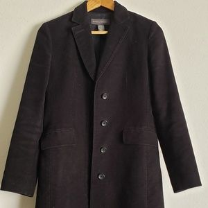 Banana Republic Black Heavy Winter Coat Jacket Out